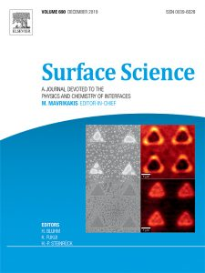 Surface Science cover for volume 690 December 2019.