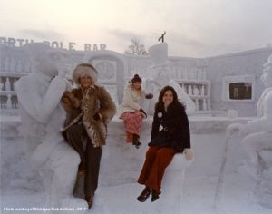 The first place snow sculpture for 1974