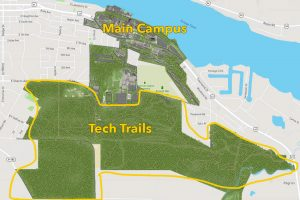 Map of Michigan Tech campus
