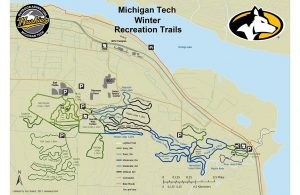Michigan Tech Trails map
