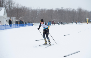 Michigan Tech skier