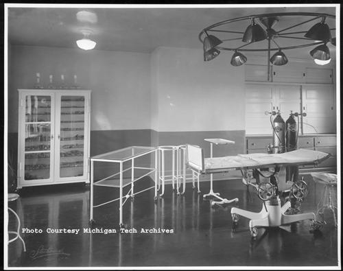 Interior view of the surgery room at the C&H Hospital, circa 1928.