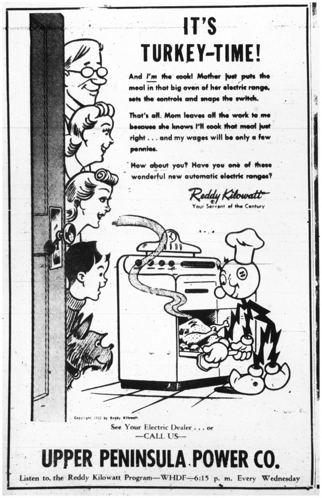 Printed in the Daily Mining Gazette, November 12, 1953, page 10