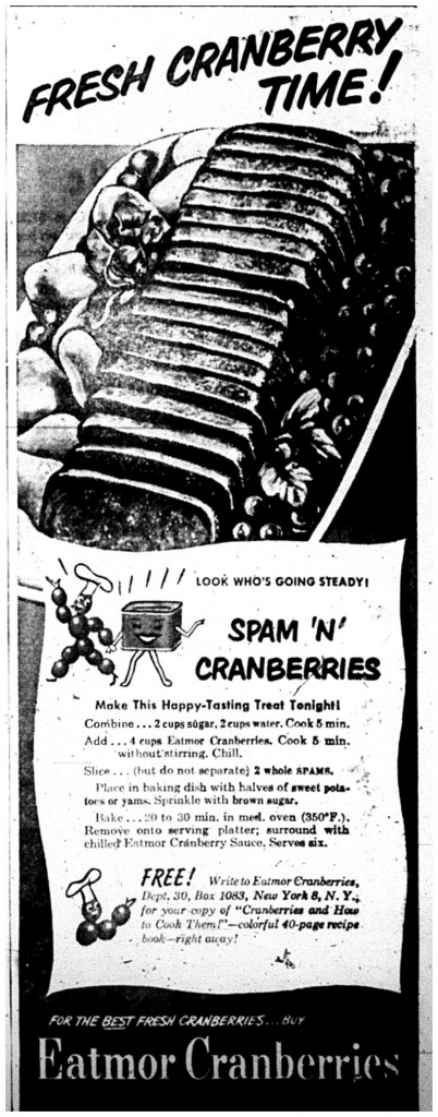 Printed in the Daily Mining Gazette, November 2, 1950, page 9
