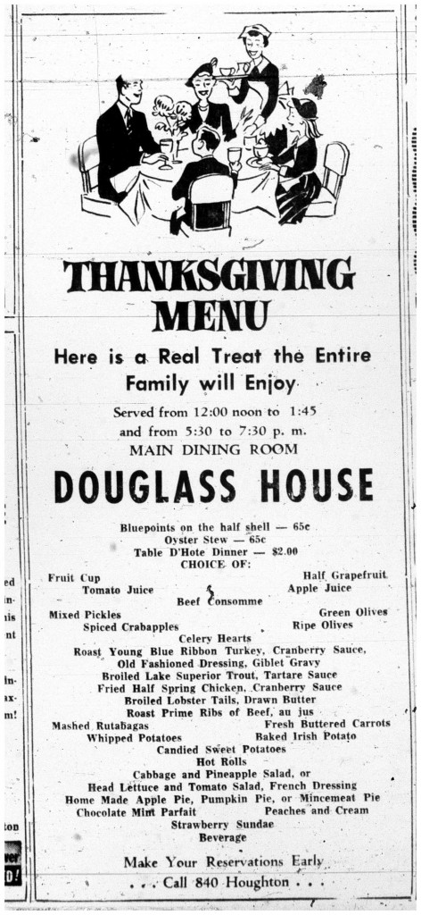 Printed in the Daily Mining Gazette, November 21, 1951, page 4
