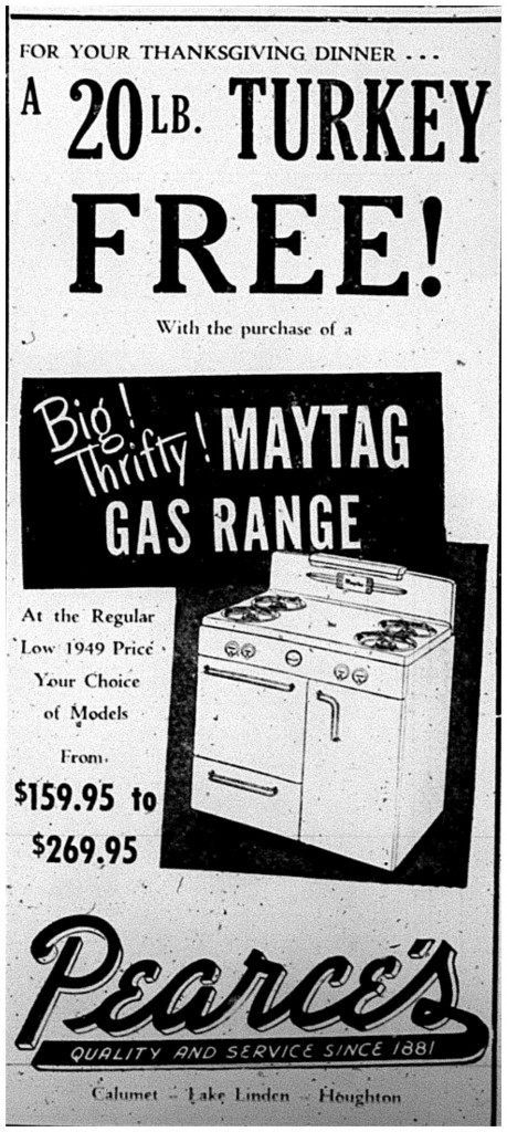 Printed in the Daily Mining Gazette, November 6, 1950, page 10
