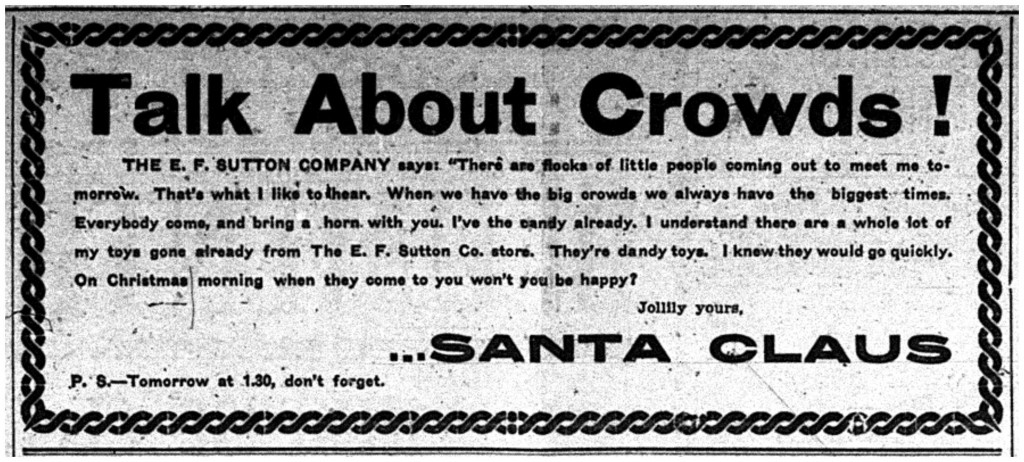 Printed in the Daily Mining Gazette, December 19, 1903, page 10