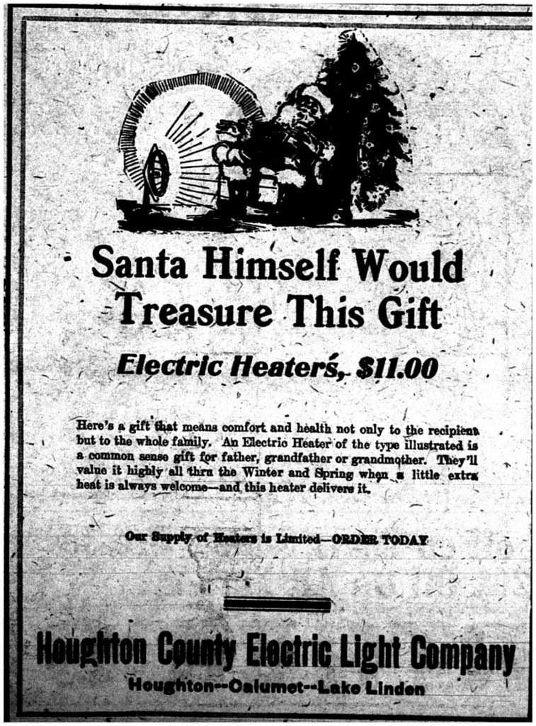 Printed in the Daily Mining Gazette, December 19, 1919, page 7