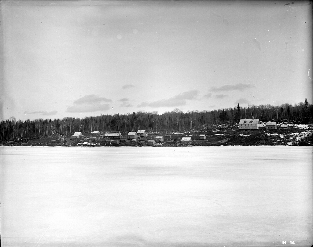 Isle Royale in Winter. (Photo courtesy of the Keweenaw Digital Archives.)