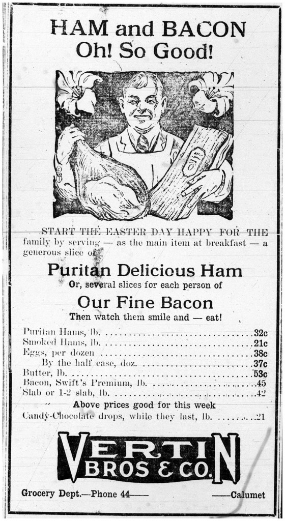 Printed in the Calumet News on April 10,1925 on page 10