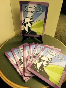 Copper Country Scavenger Hunt booklets on display in the Michigan Tech Archives Reading Room.