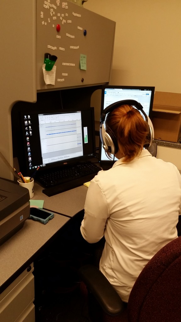 Andrea Dubs,  editing audio files with Audacity