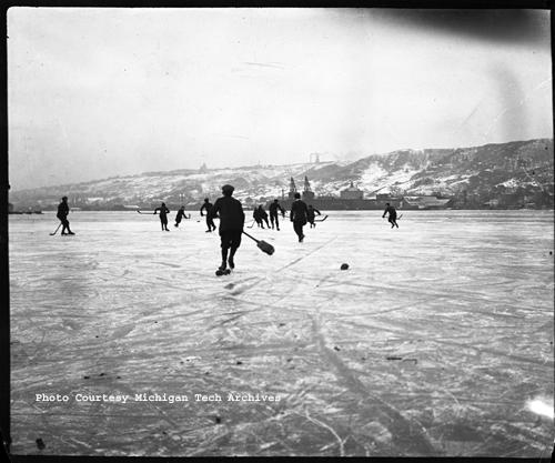 Ice skating on a frozen Portage Canal, image #MS042-034-999-G137J