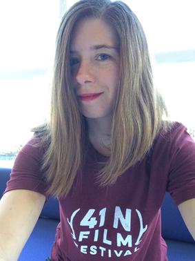 Allison at the 41 North Film Festival, Houghton, November 2016.