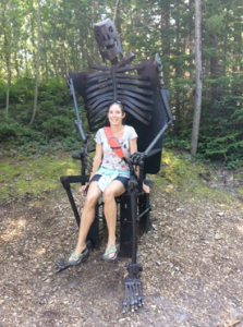 At the Lakenenland Sculpture Park, Marquette, August 2017.