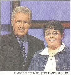 """""""Jeopardy!"""" publicity photograph taken just before filming the episode."""