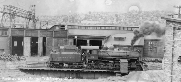 Copper Range Roundhouse, date unknown.