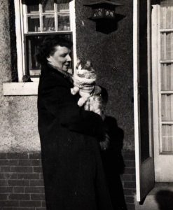 Ellen Carlson with cat, undated.