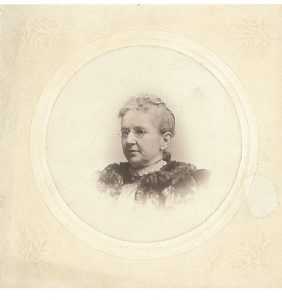 Portrait of an older Charlotte Brockway