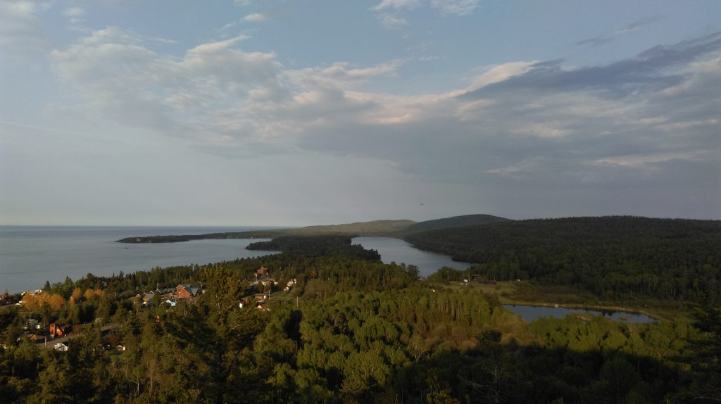 View of Copper Harbor from Brockway Mountain