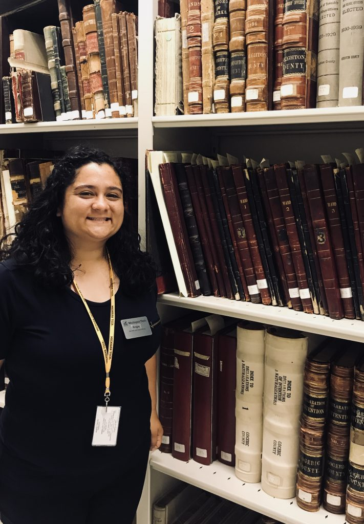 Our new FMTL Archives Intern for summer 2018, Angie Piccolo.