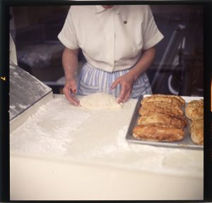 Woman preparing pasties