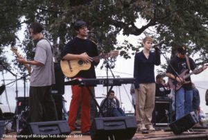 Local band performing at K-Day, 1997.