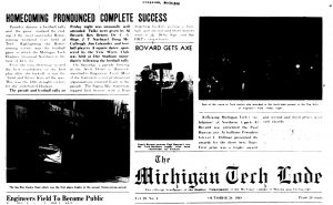 Homecoming Complete Success, Michigan Tech Lode, 1948.