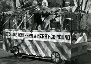 Homecoming float, 1948.