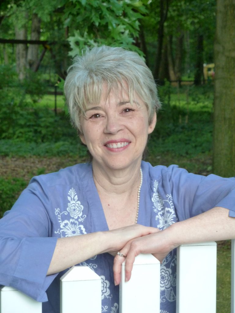 Author Mary Doria Russell poses for a publicity photograph.
