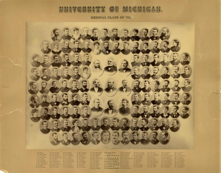 Composite image of medical school graduates