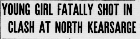 "Headline reading, ""Young girl fatally shot in clash at North Kearsarge."""