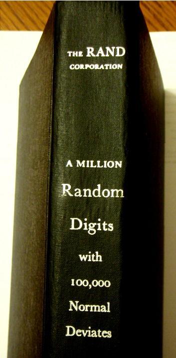 rand corporation book of random numbers