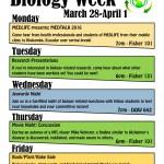 Biology Week flyer