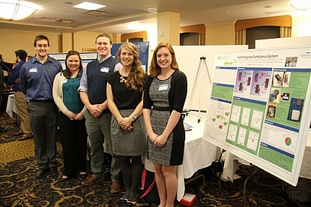 BME Team won Honorable Mention  – Compliance Keweenaw: Aspirus Keweenaw Hand-washing Compliance SystemTeam Members: Anna Waller, Jannah Brandt, Drew Markel, Creighton Bradley, and Rebecca Manshaem, Biomedical Engineering