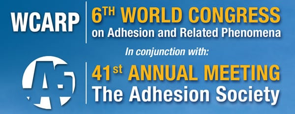 6th World Congress on Adhesion and Related Phenomena