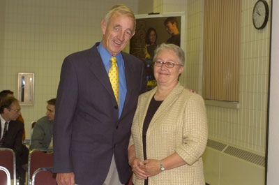 Board of Control Chair Mike Henricksen and SBE Dean Dr. Christa Walck