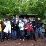 Danielle and friends at the Porcupine Mountains
