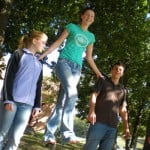 Walking the slackline