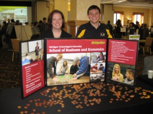 Jake and Joanne at the Campus Showcase
