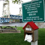 Poopy Pickups by the Houghton, Michigan Waterfront