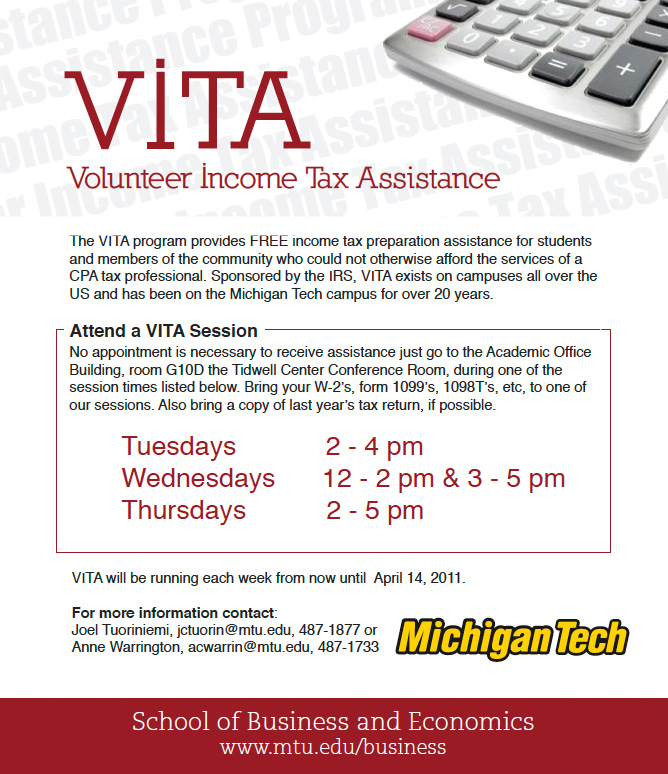 Get Help With Your Income Tax Return Vita Returns School Of