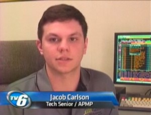 Jake Calrson, interviewed on TV6 Monday, March 28, 2011.