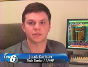 Jake Calrson, interviewed on TV6 Monday, March 28, 2011.