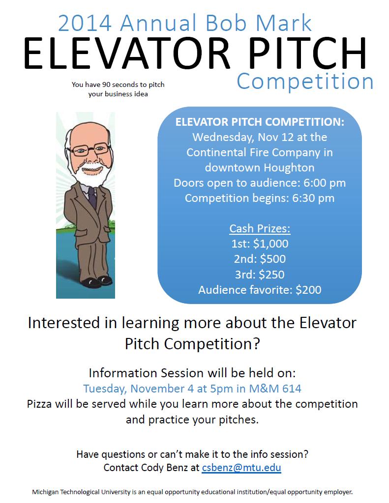 Elevator Pitch 2014