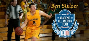 Finance major Ben Stelzer was named an Academic All-American.