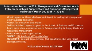 Info Session on BS in Management and Concentrations March 2016