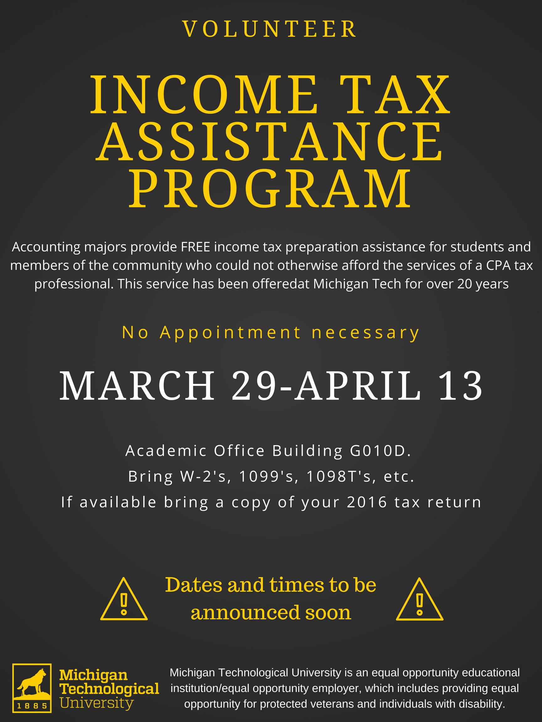 Volunteer Incoming Tax assistance Program