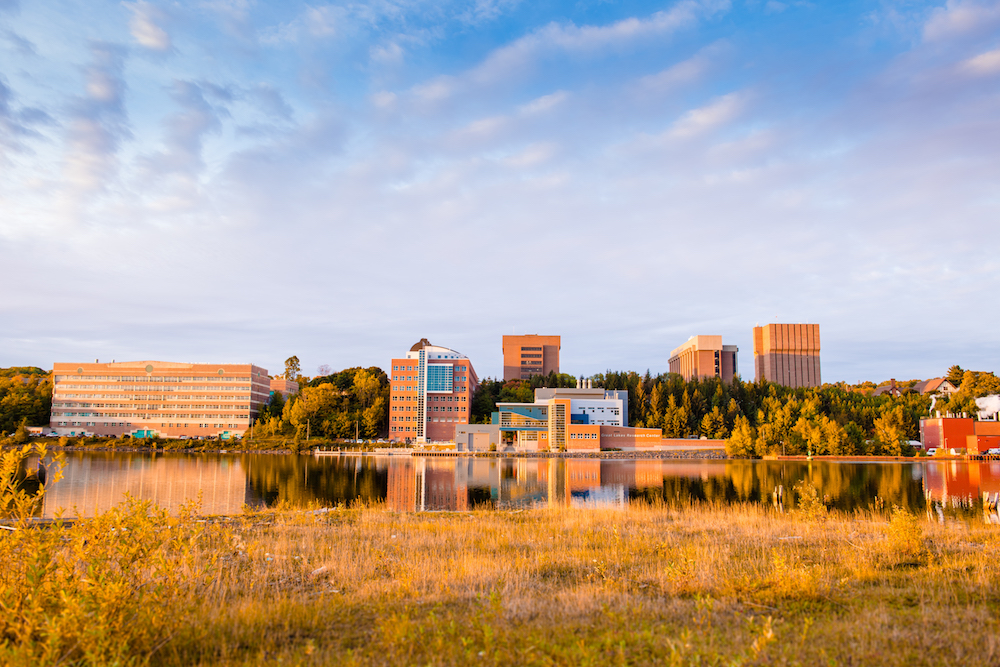Michigan Tech campus in the fall.