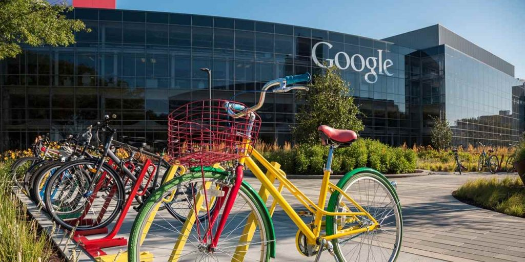 Image of bicycle outside Google headquarters